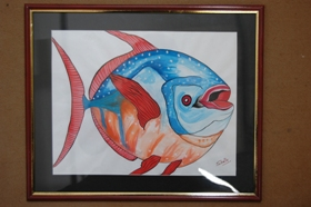 Fishes on Handmade Paper-16