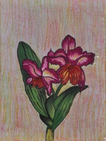 Florals on Handmade Paper-5