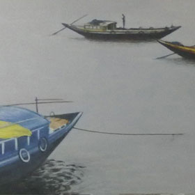Ganga With Boat-1
