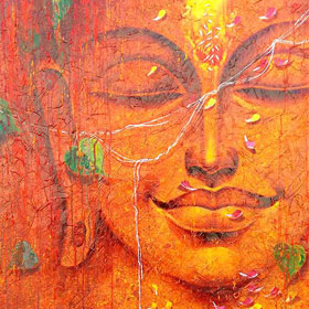 Orange Texture Buddha