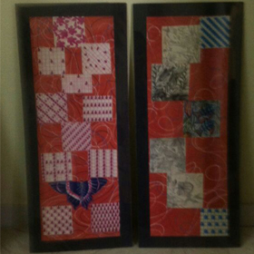 Pair    of   Red   Panel
