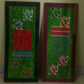 Pair  of   Green    Panel