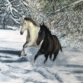 Horses   on   canvas