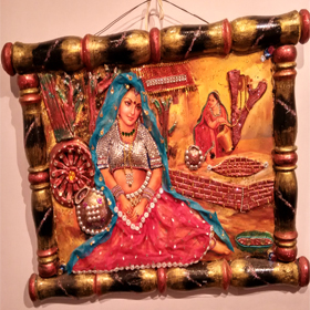 Rajasthani  traditional  lady  wall  hanging