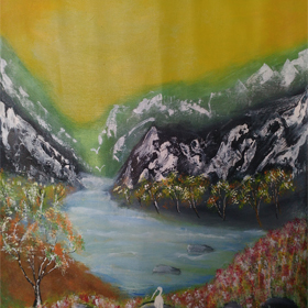 landscape-1  on  canvas  in  acrylic  paints