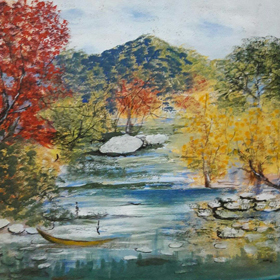 landscape-3   on  canvas  in  acrylic  paints