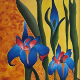 Floral on Canvas-17